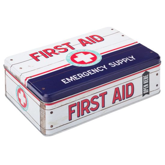 Retro Medicine Box 9 X 6.25 Inch (23 X 16cm) H:7cm Box Of 4 UTT F91302-000000-B01004