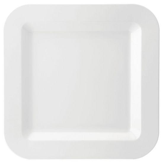 Melamine Square Plate 17.25 Inch (43.5cm) Box Of 6 UTT JMP102-WHI000-B01006