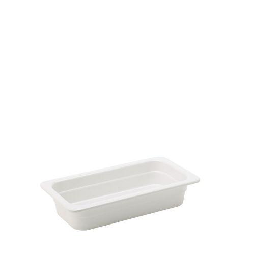 Melamine White GN 1/3 - 2.5 Inch (6.5cm) Deep Box Of 6 UTT JMP134-000000-B01006