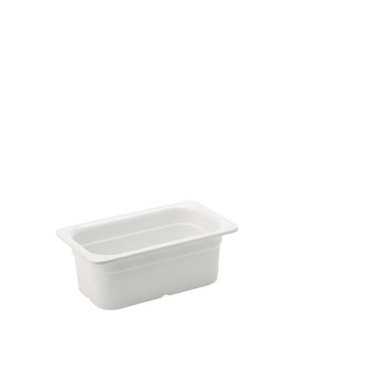 Melamine White GN 1/4 - 4 Inch (10cm) Deep Box Of 1 UTT JMP137-000000-B01001