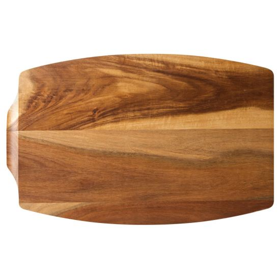 Acacia Wood Steak Platter 13.5x8.75 Inch (34x22cm) - Sides: With Juice Catcher / Plain Box Of 6 UTT JMP936-000000-B01006