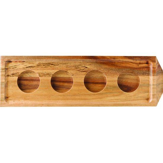 Acacia Chocolate/Shot Flight 11 X 3.5 Inch (28 X 9cm) - With 4 Indents Box Of 6 UTT JMP941-000000-B01006