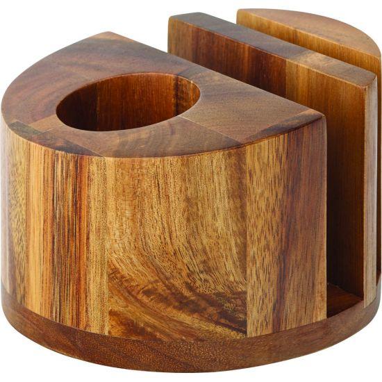 Acacia Menu/Napkin & Cutlery Holder 5 Inch (12.5cm) Box Of 6 UTT JMP974-000000-B01006