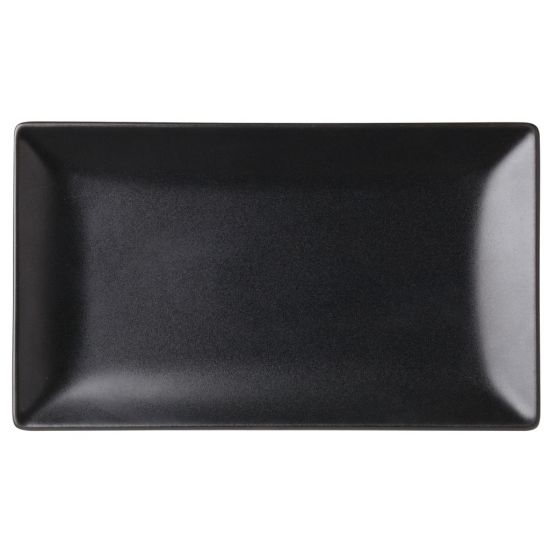 Noir Rectangular Black Plate 10 X 5.75 Inch (25 X 14.5cm) Box Of 12 UTT K10030-000000-B01012