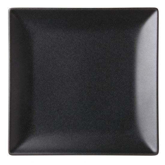 Noir Square Black Plate 7 Inch (18cm) Box Of 12 UTT K10031-000000-B01012