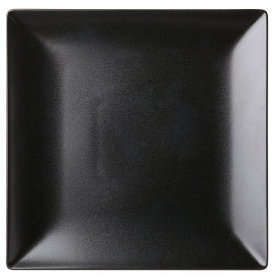 Noir Square Black Plate 10 Inch (25.5cm) Box Of 12 UTT K10033-000000-B01012