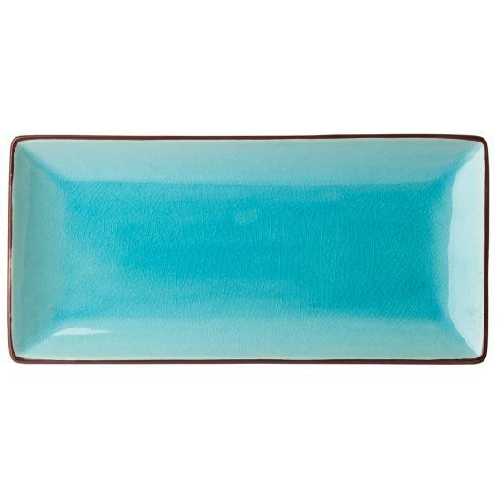 Aqua Rectangular Plate 11.5x5.5 Inch (30x14cm) Box Of 6 UTT K90021-000000-B01006