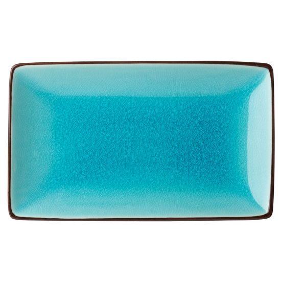 Aqua Rectangular Plate 8.5x5.5 Inch (21x14cm) Box Of 6 UTT K90025-000000-B01006