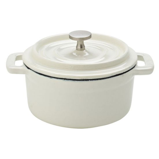 Cast Iron Calico Round Casserole 4 Inch (10cm) 8oz (23cl) Box Of 6 UTT MH7006-000000-B01006