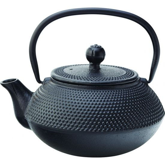 Mandarin Teapot Black 24oz (67cl) - With Infuser Box Of 6 UTT MH7007-000000-B01006